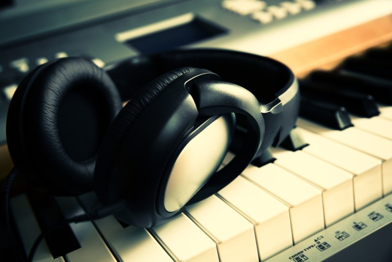 headphones for music on the instrument