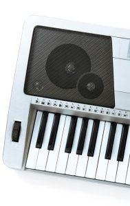 Synthesizer speaker isolated on white